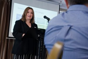 Michelle Taylor addresses the conference